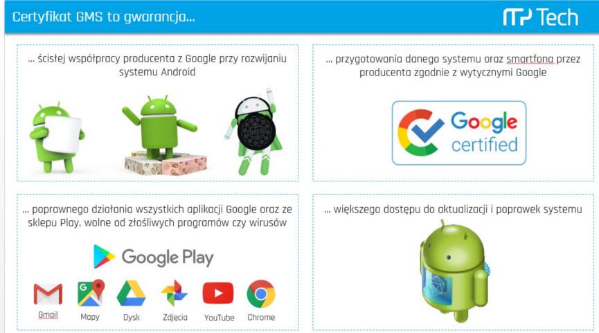 GMS i czysty Android - wydajny system mobilny