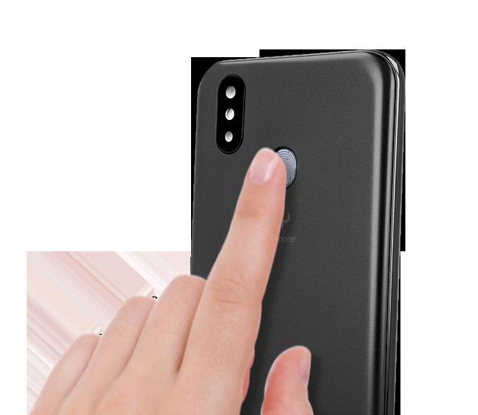 Smartfon posiada czytnik linii papilarnych