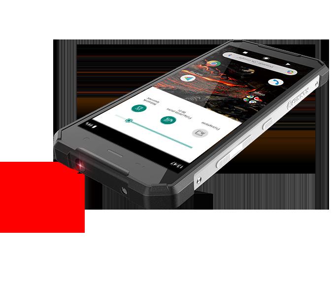 wskaźnik laserowy w smartfonie